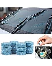 Gfone Limpiador de vidrios de Autos sólidos Limpiador de limpiaparabrisas Concentrado tabletas efervescentes Cuidado de Coche