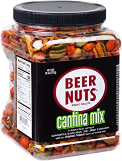 product image for BEER NUTS Cantina Mix - 26 oz. Jar, Original Peanuts, Chili Lemon Roasted Corn, Black Bean Sticks, Guacamole Bites