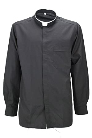Shirt Priester Priester Priester Popeline Schwarz mit Brusttasche  Amazon.de   Bekleidung b715010291