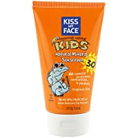 Kiss My Face SPF 30 Mineral Sunblock for Kids, 4 Ounce - 2 per case.