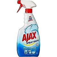 Ajax Spray n' Wipe Multi-Purpose Kitchen & Bathroom Household Cleaner Ocean Fresh Trigger, 500 milliliters