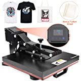 "Seeutek Power Heat Press Machine 15"" x 15"" Industrial Quality Digital Heat Transfer Printing Machine Clamshell Sublimation for T Shirts"