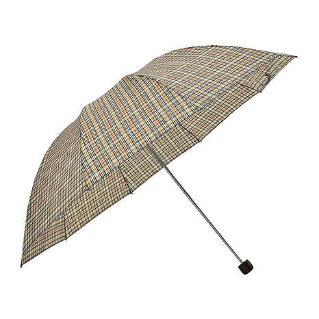LybCvad paraguas Sombrilla paragüero paraguas tres paraguas plegable UV parasol
