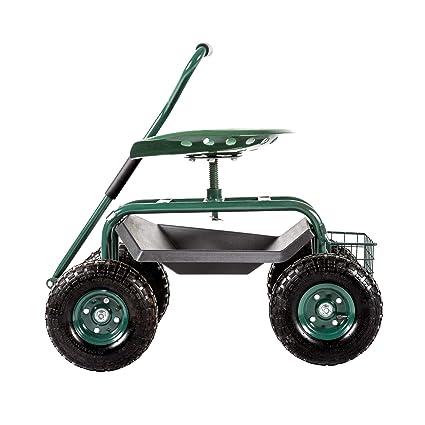 Amazon.com: KINSUITE Carrito de jardín Tractor Scoot: Jardín ...