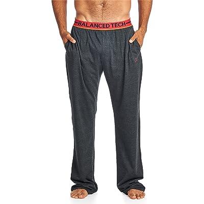 Balanced Tech Men's Solid Cotton Knit Pajama Lounge Pants: Clothing