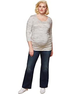 0fbe315eef7 Jessica Simpson Plus Size Secret Fit Belly Boot Cut Maternity Jeans ...