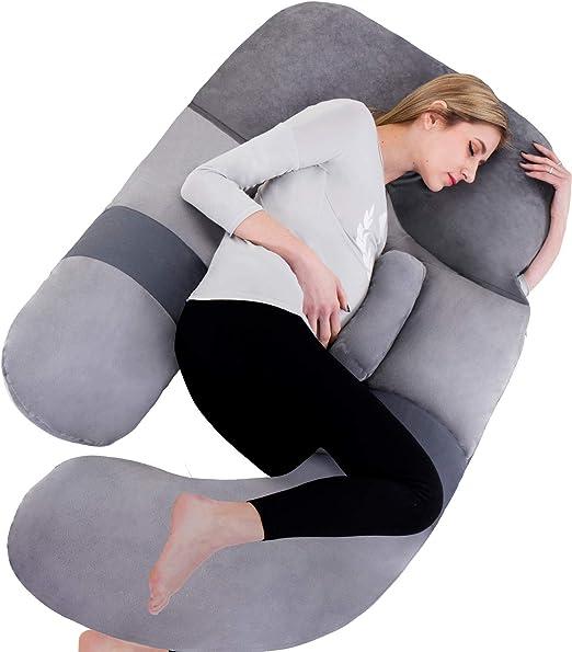 Oversized U Shape Pillow Case Nursing Pregnancy Maternity Full Body Support