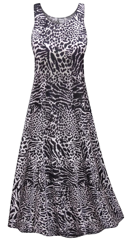 f98ad49d8 Plus size stretchy poly/cotton princess cut tank dress. Note: Our brand  runs large! Please refer to Sanctuarie Designs size chart ...
