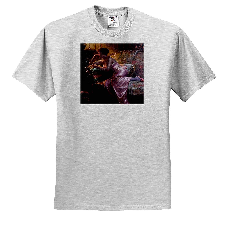 Max Albert Carlier T-Shirts Women 3dRose VintageChest Lady with Mirror