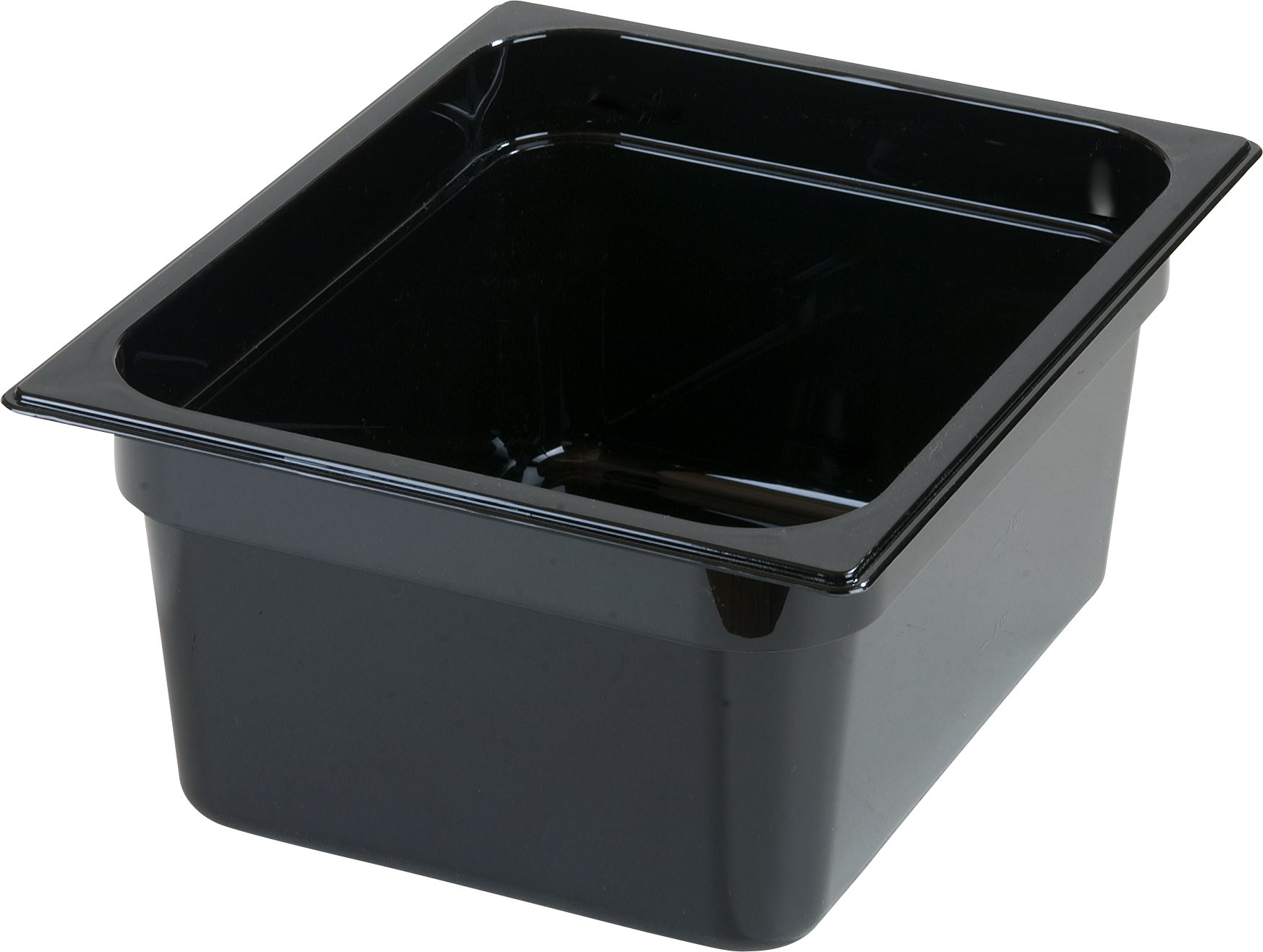 Carlisle 10422B03 StorPlus Gastronorm High-Heat Half-Size Food Pan, 8.7 qt. Capacity, 12-3/4 x 10-3/8 x 6'', Black (Case of 6)