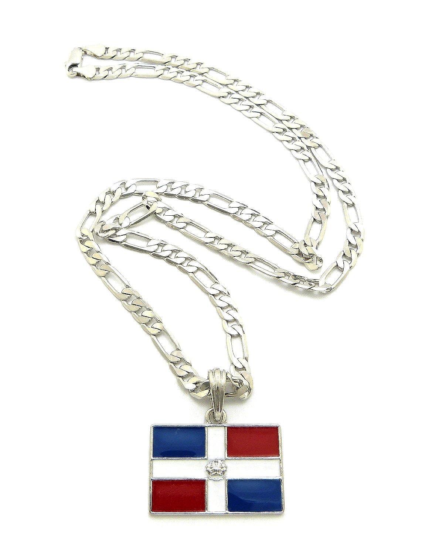 dominican republic flag pendant 5mm 24