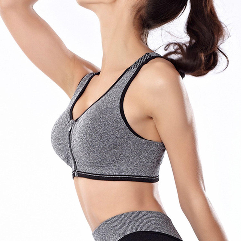Libertepe Soutien-Gorge Sport Bra Brassière Sport Femme Fille Confort  Fitness Yoga Course sans Couture sans Armature df37a566559
