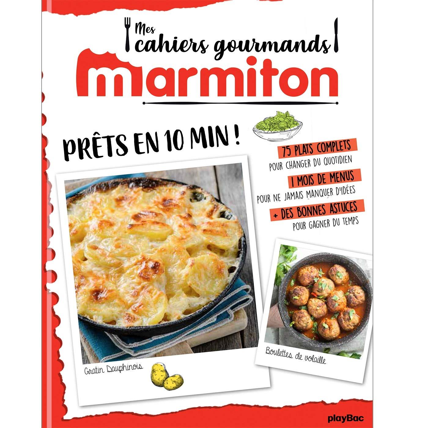 Menu De Noel Facile Et Rapide Marmiton.Amazon Fr Marmiton Cahier Gourmand Pret En 10 Minutes