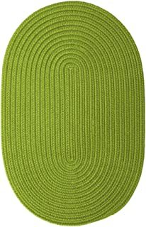 product image for Colonial Mills Boca Raton Braided Polypropylene Bright Green 3'x5' Oval Rug