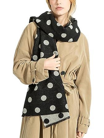eed2b31cd8f3 DAMILY Hiver Écharpe Mode Femmes Dots Motif Réversible Pashmina Foulards  Châles Chaud Cachemire Glittering Couverture Wraps