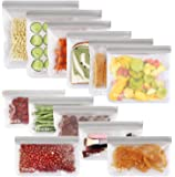 sherry Reusable Food Storage Bags,12 Pack Reusable Snack Bags Bread Box Set (6 Reusable Snack Bags 4 Sandwich Bags 2…