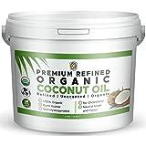 Earth Circle Organics Premium Ultra Pure REFINED Organic Coconut Oil - Steam Refined, Keto & Paleo Friendly - Pure Coconut Oi