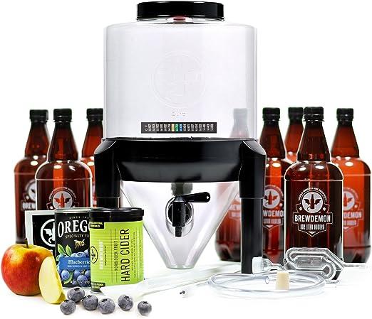 Brewdemon Kit para elaborar Sidra Artesana   Kit de Inicio Sidra fácil de Usar con fermentador cónico Reutilizable, Equipo e Ingredientes   por Primera Vez en España: Amazon.es: Hogar