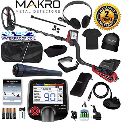 Amazon.com : Makro Racer Metal Detector Pro Package 2 Waterproof Coils, Extras & Pinpointer : Garden & Outdoor
