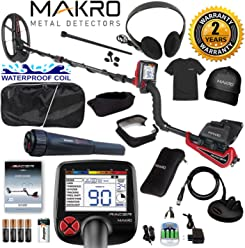 Makro Racer Metal Detector Pro Package 2 Waterproof Coils, Extras & Pinpointer