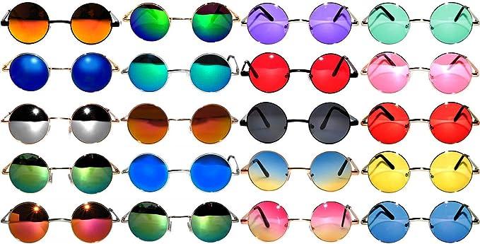 Classic cool metal frame Sunglasses narrow lens assorted frames lot of 12