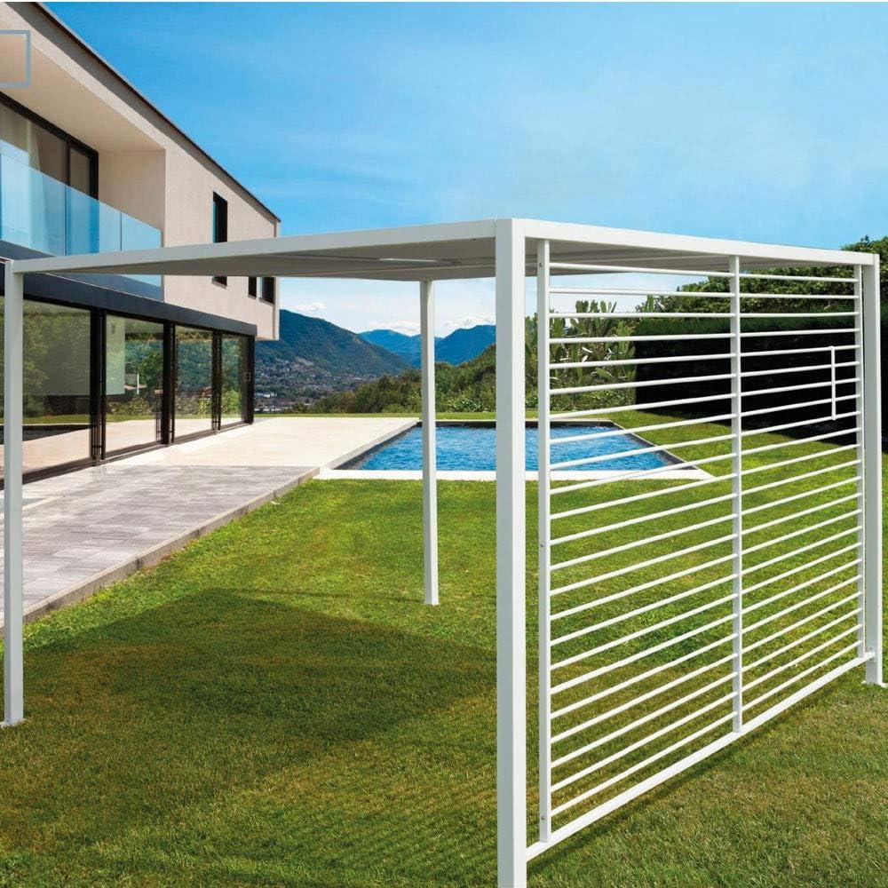 Cenador para jardín o terraza de aluminio color blanco con ...
