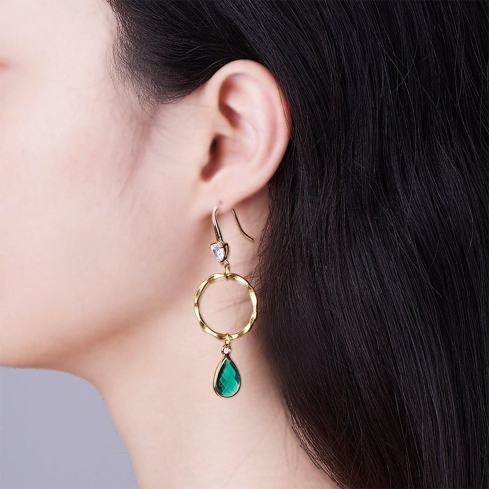 SUNNYCLUE 200 pezzi fai da te 6 paia lampadario boemia cerchio goccia ciondola orecchini creazione di gioielli kit doro