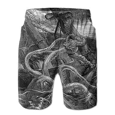 f093398fb9 IIwpants Octopus Monster Sports Mens Swim Trunks Boardshorts Beach Shorts  Quick Dry Bathing Funny Running Board