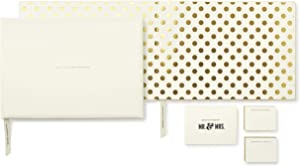 Kate Spade New York Wedding Mr and Mrs Guest Book, Gold Dots