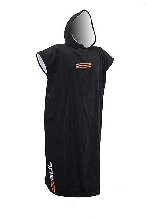 a654cef839 Gul Adults Mens Ladies Hooded Beach Changing Robe Beach Poncho Towel  Swimming (Black)