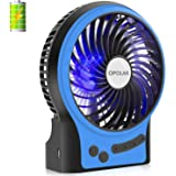 OPOLAR Battery Operated Desk Fan with Large Capacity of 3350mAh, Max. 15 Hrs Per Charge, Strong Wind, 3 Speeds, Portable, Rechargeable, Quiet, USB Powered, Perfect for Outdoor or Office and Home