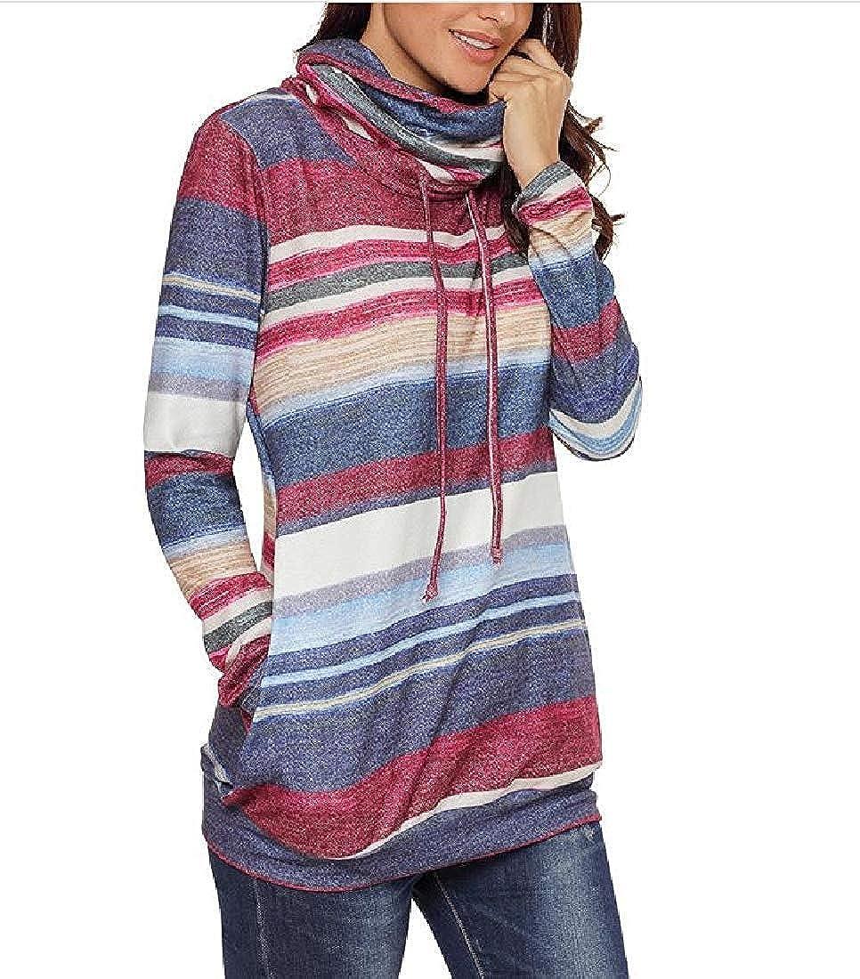 Hadudu Womens Fall Winter Pocket Unique Pullover Shirt Tops Outwear