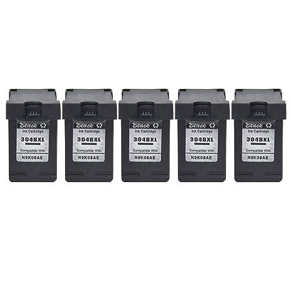 NineLeaf Paquete de 5 cartuchos de tinta remanufacturados 304 XL ...