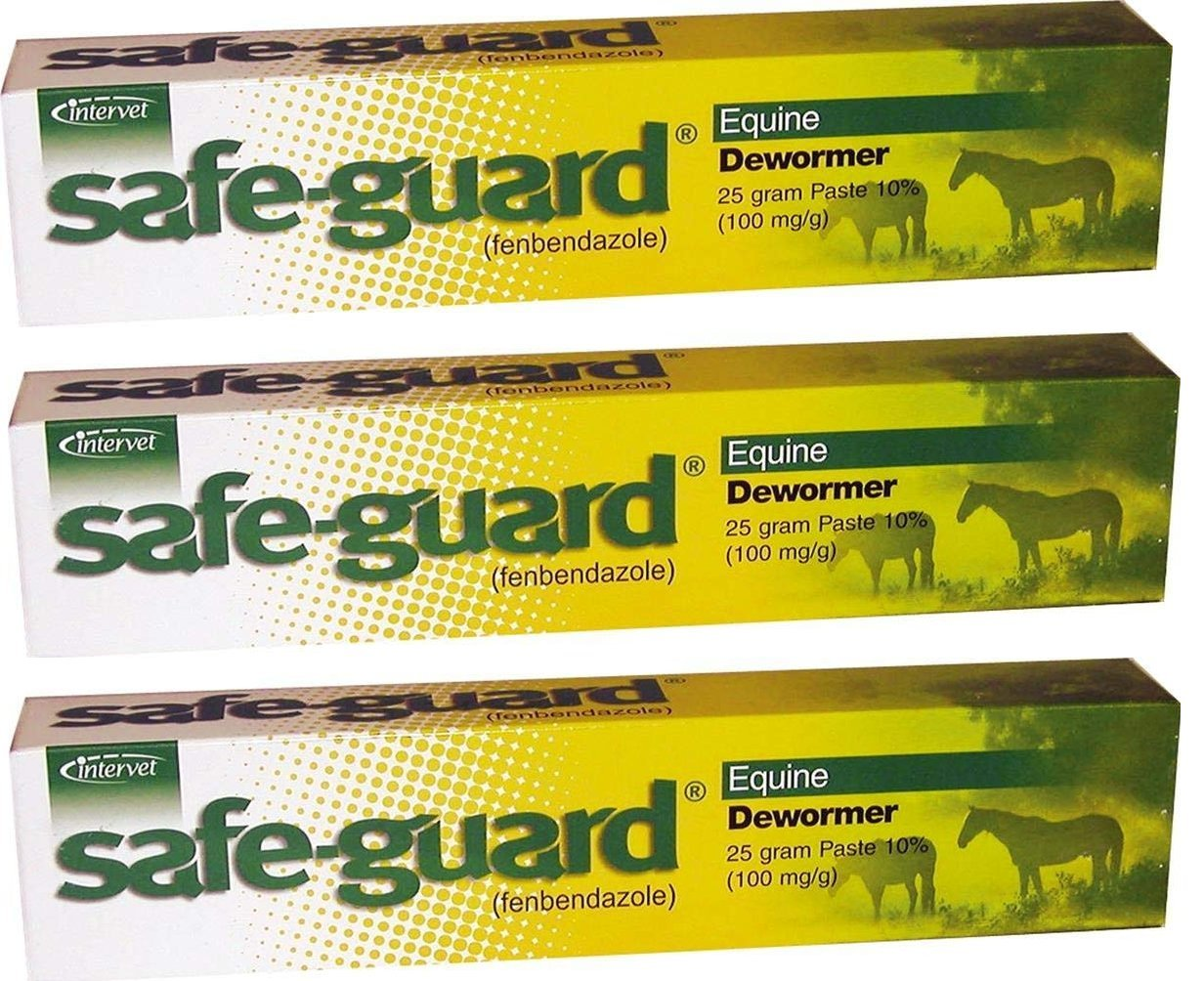 Merck Intervet Safeguard Dewormer Paste for Horses, 25gm (3-Pack)