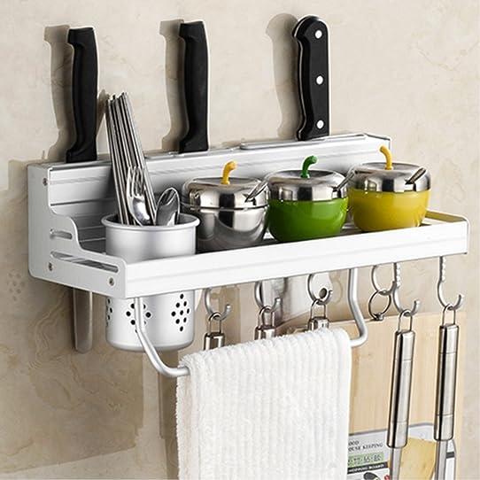 15.6u0026quot; Kitchen Organizer Rack Wall Shelf Mounted Hanging Rack Aluminum  Management Organization With Shelves,