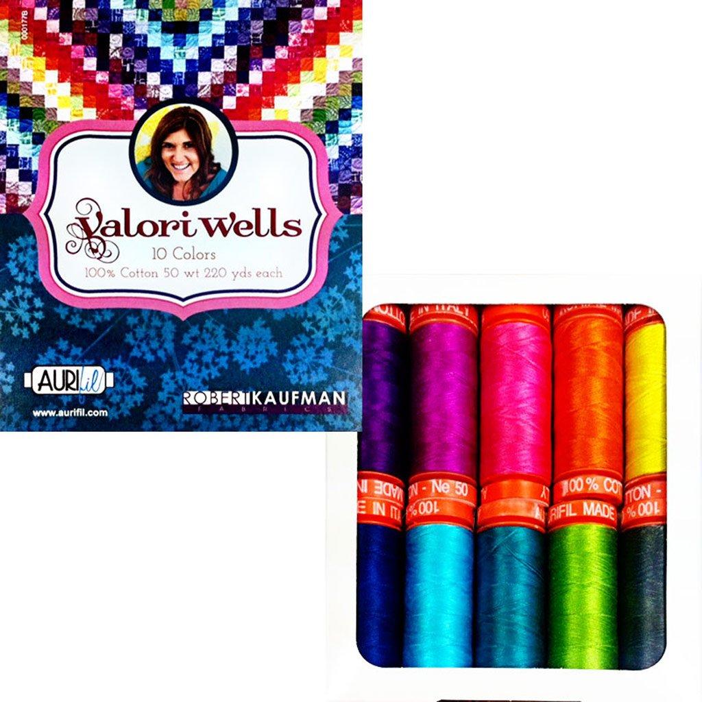 Aurifil Thread Set Valori Wells Thread 50wt Cotton 10 Small (220 yard) Spools by Aurifil