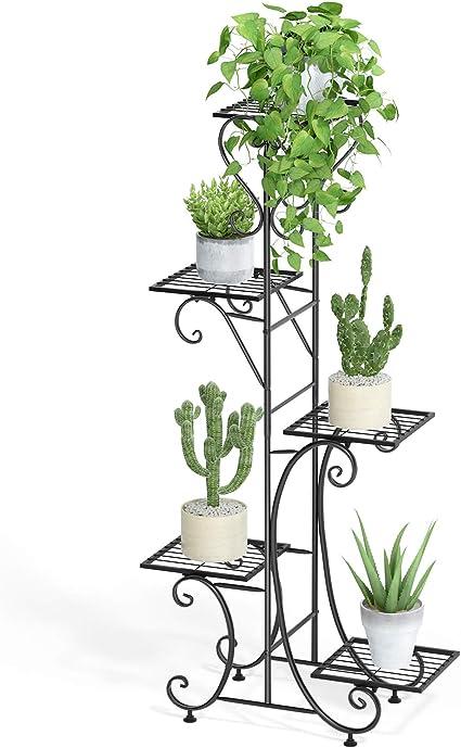 5 Tier Outdoor Indoor Metal Plant Stand Garden Decor Flower Pot Holder Shelves