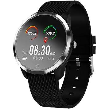 jpantech Smartwatch, Reloj Inteligente Impermeable IP67 con Pulsómetro, Cronómetro, Monitor de sueño,Podómetro,Calendario, Pulsera Actividad para ...
