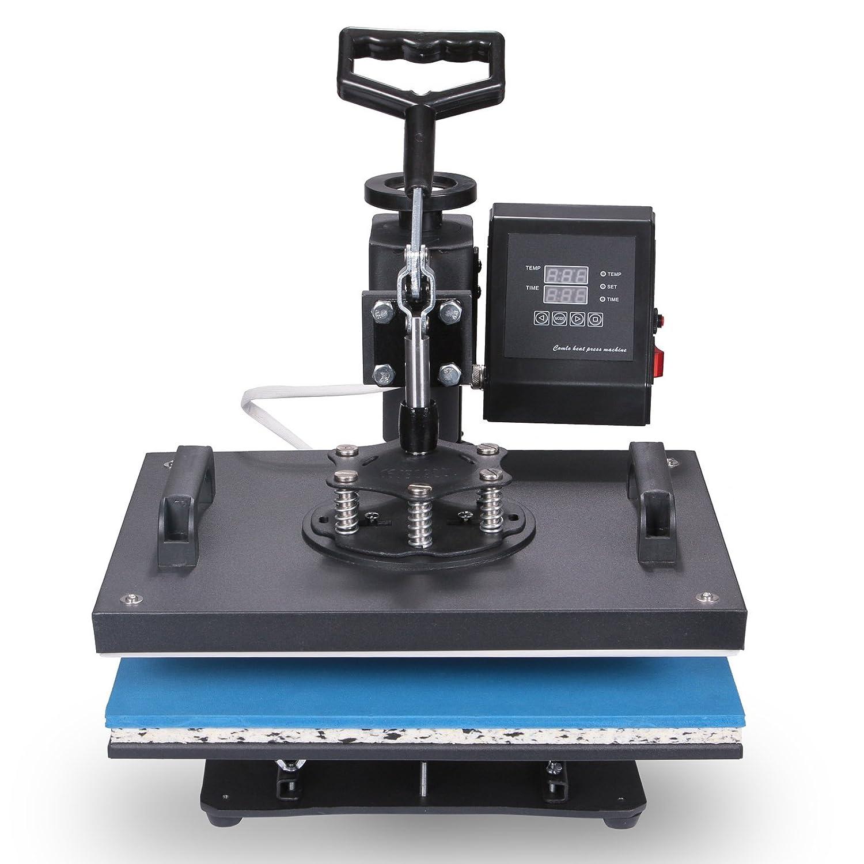 Mophorn Heat Press 15x15 inch 5IN1 Multifunctional Heat Press Machine Transfer Combo Swing-Away Heat Press Machine for T Shirts Mug Hat Press LED Digital Controller