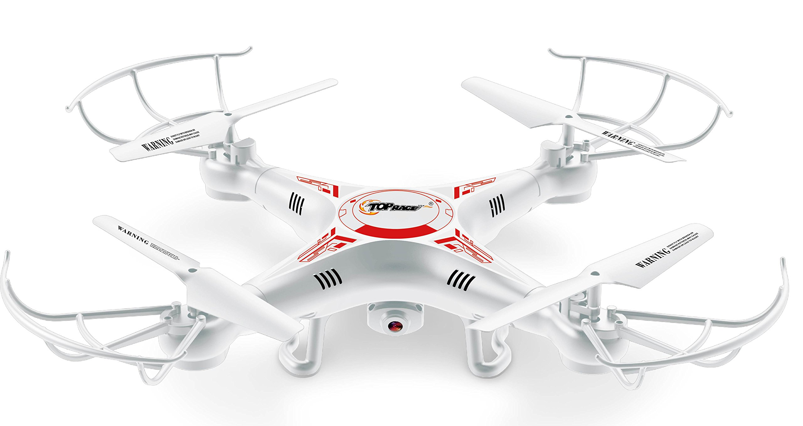 4 Channel 6 Axis 2.4G Remote Control Quadcopter Airplane with Camera & LED Lights by Top Race