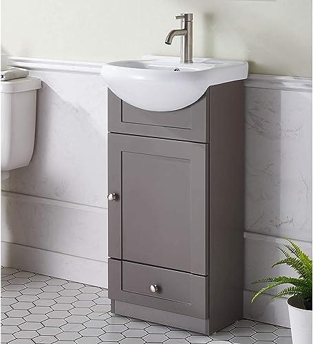 Modern Design 18 Grey Khaki Stand Bathroom Vanity