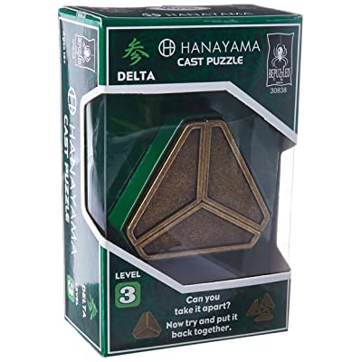 BePuzzled Delta Hanayama Cast Metal Brain Teaser Puzzle (Level 3) Puzzles For Kids & Adults Ages 12 & Up: Toys & Games