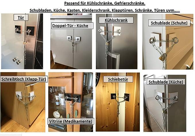 Kühlschrank Verriegeln : KÜhlschrank verriegeln set u2013 schloss mit 3x schlüssel adapter