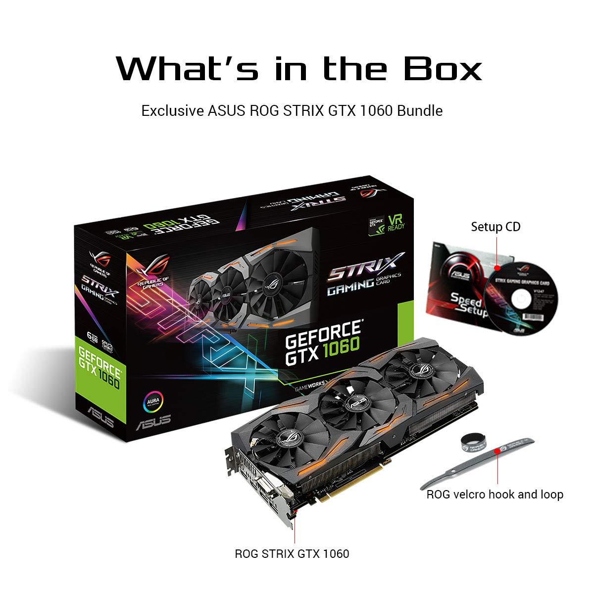 Asustek computer - Asus strix-gtx1060-6g-gaming, 6gb dvi, 2xhdmi, 2xdisplayport: Amazon.es: Informática