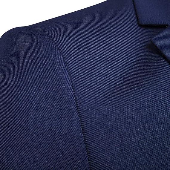 Amazon.com: 2018!!😊Men Boys Slim Blazer Business Wedding Party Jacket Vest Pants (2XL, Navy): Electronics