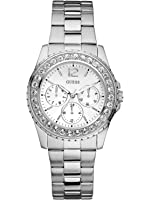 Guess Silver-Tone Multifunction Watch