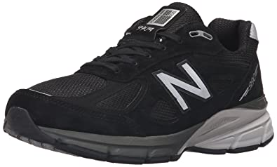 New Balance Men's M990BK4 Running Shoe BlackSilver LeatherMesh