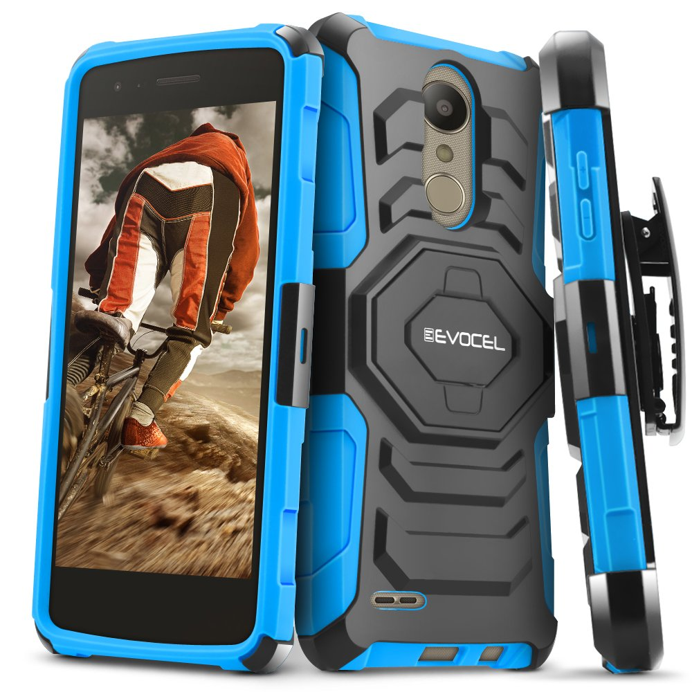 LG Aristo 2/ Aristo 2 Plus/Tribute Dynasty/Fortune 2/ Rebel 3 Case, Evocel [New Generation Series] Belt Clip Holster, Kickstand, Dual Layer for K8+/ Phoenix 3/ LG Zone 4, Blue
