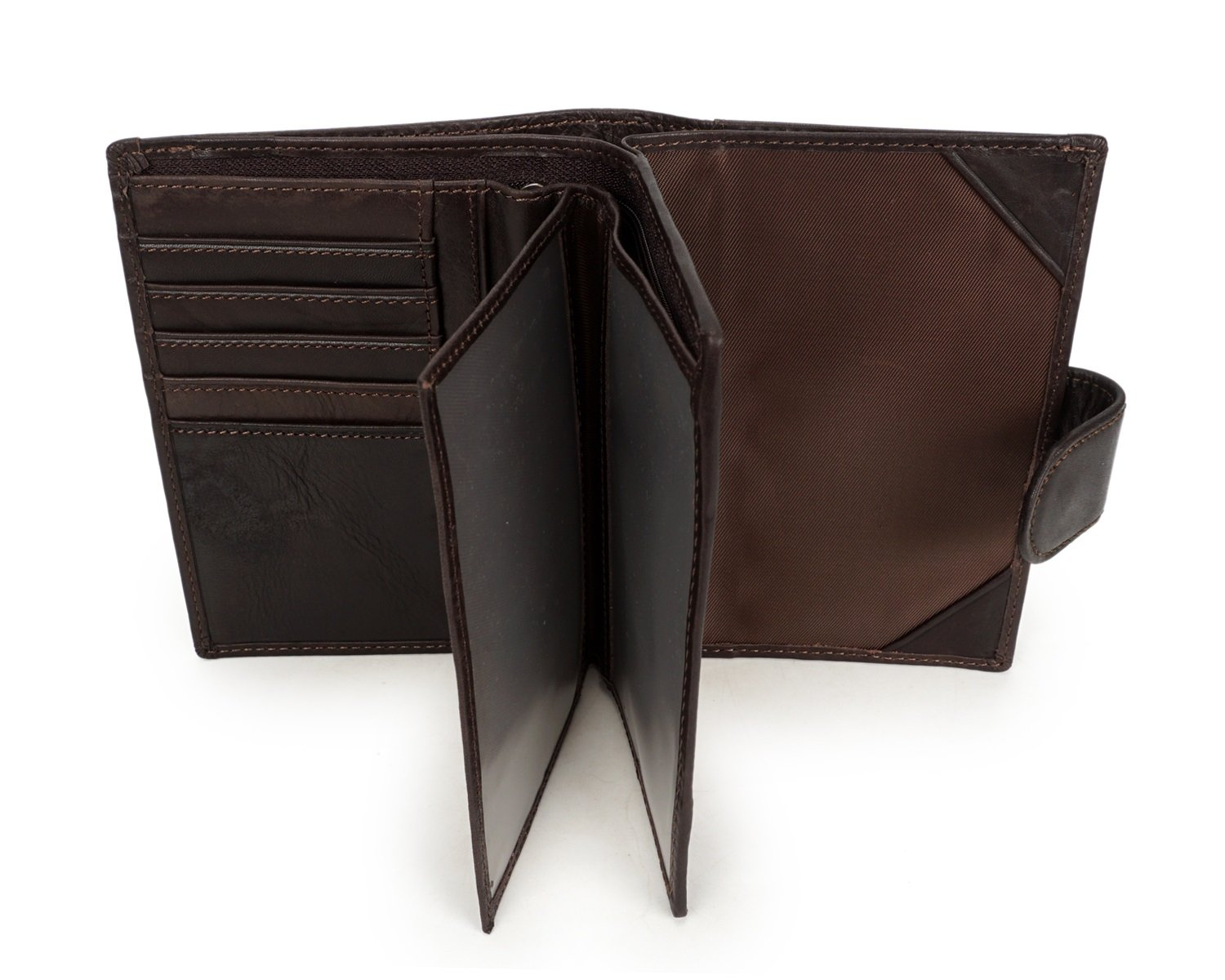 Color : Black, Size : S Shengjuanfeng Mens Wallet Leather Short Section Passport Man Bag Casual Retro First Layer Leather Oil Wax Wallet