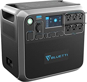 BLUETTI Portable Power Station AC200P 2000W 2000Wh Solar Generator 700W PV Max. Backup Battery Pack with 6 2000W AC Outlet(4800W Surge) for RV Home Emergency Outdoor Camping Explore …